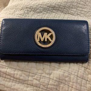 MK navy wallet